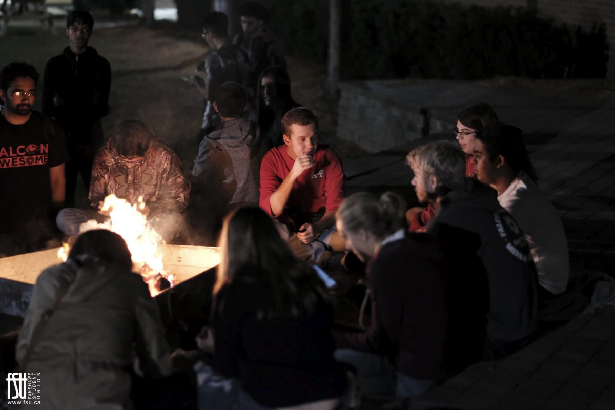 Campfire in the Courtyard