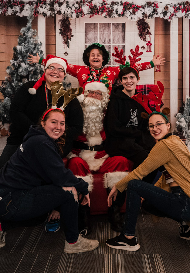 Downtown Campus Santa photos