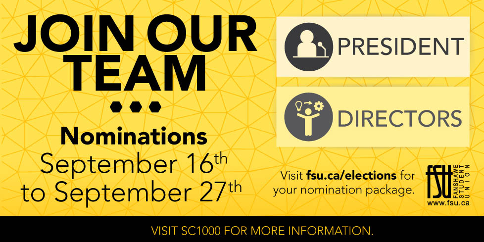Join our team - nominations open September 16 to September 27