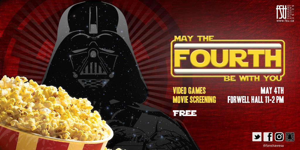 May The 4th Be With You Thursday, May 4th, 2017					