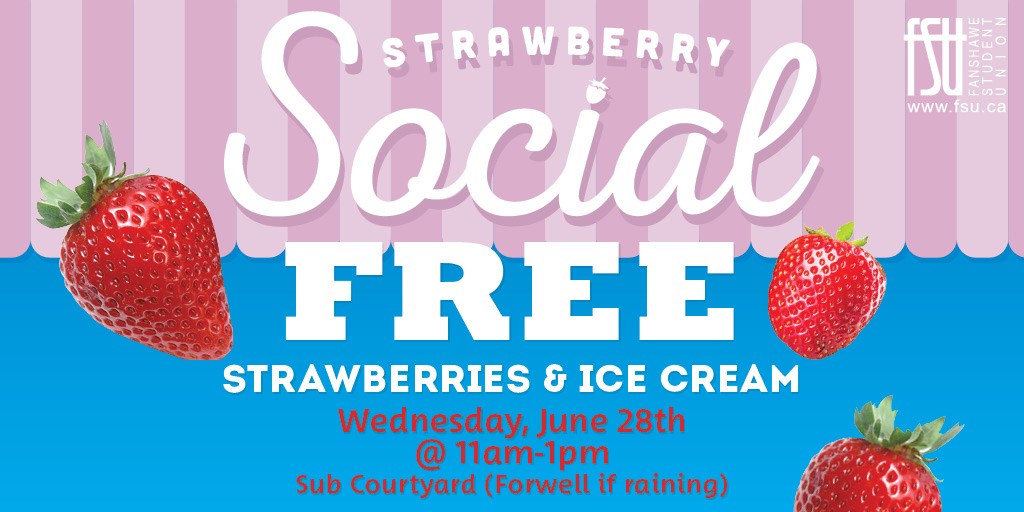 Strawberry Social Wednesday, June 28th, 2017					