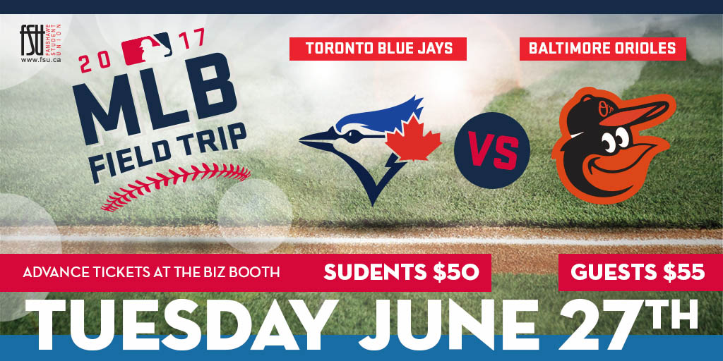 Major League Baseball Field Trip Tuesday, June 27th, 2017					