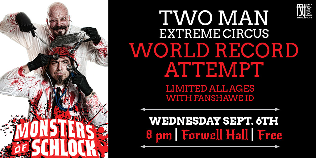 Frosh Fest Freak Show featuring Monsters of Schlock Wednesday, September 6th, 2017					