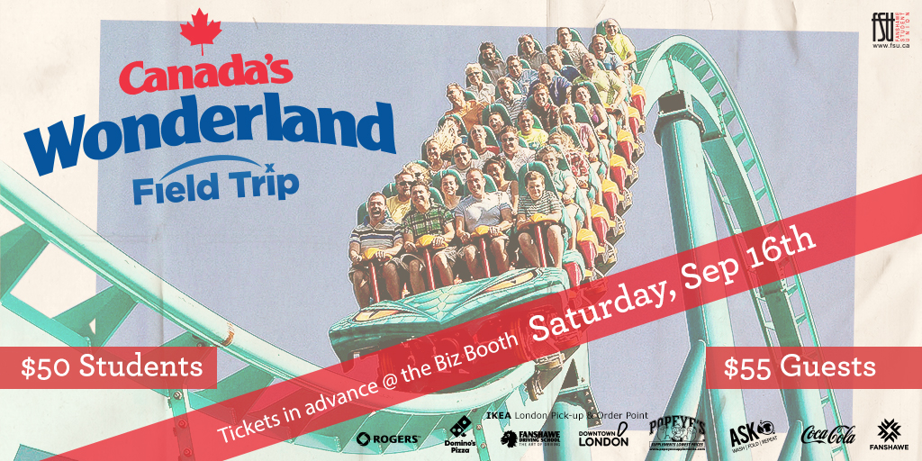 Canada's Wonderland Trip Saturday, September 16th, 2017					