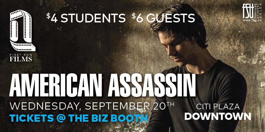 First Run Film: American Assassin Wednesday, September 20th, 2017					