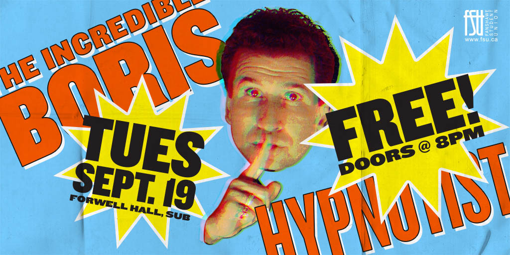 Hypnotist The Incredible BORIS Tuesday, September 19th, 2017					