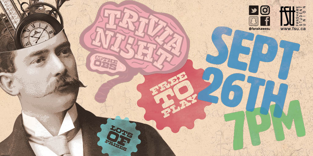 Trivia Night Tuesday, September 26th, 2017					