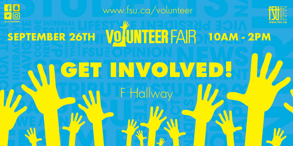 Volunteer Fair Tuesday, September 26th, 2017					