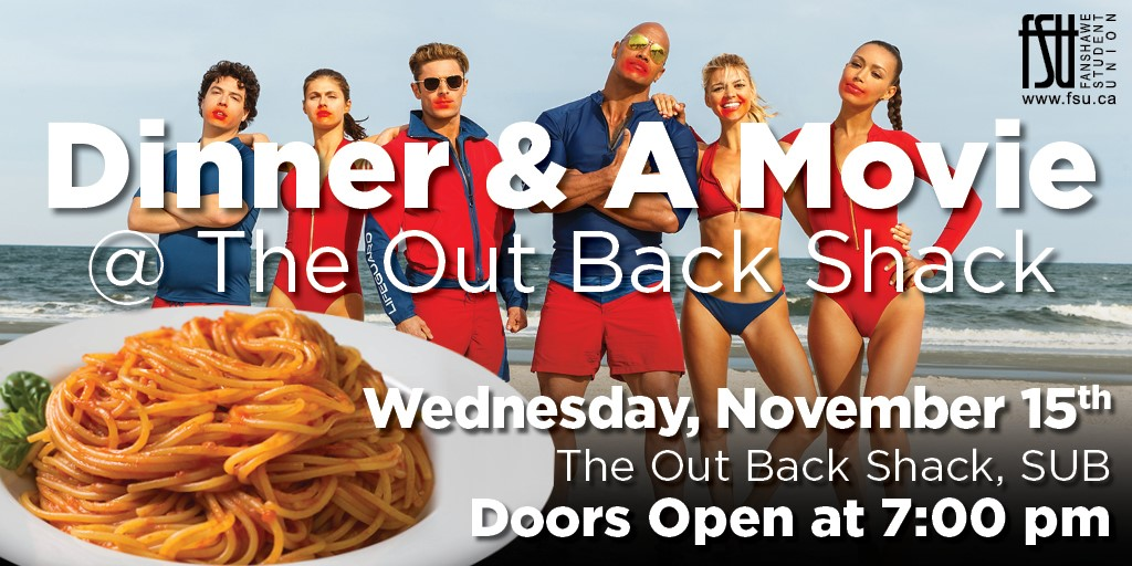 Free Dinner and a Movie Wednesday, November 15th, 2017					