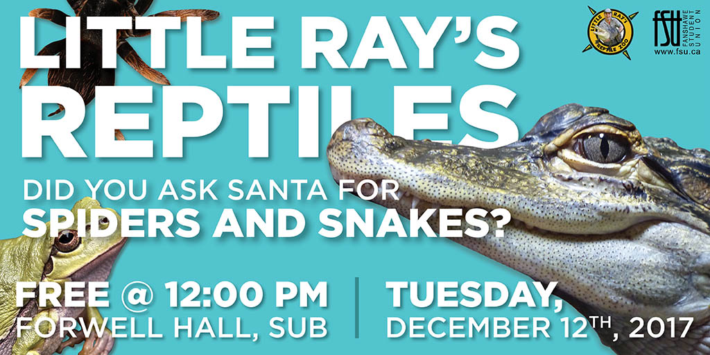 Little Ray's Reptiles Tuesday, December 12th, 2017					
