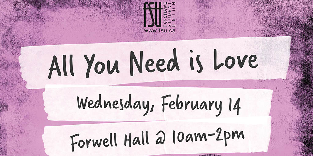 All You Need is Love Wednesday, February 14th, 2018					