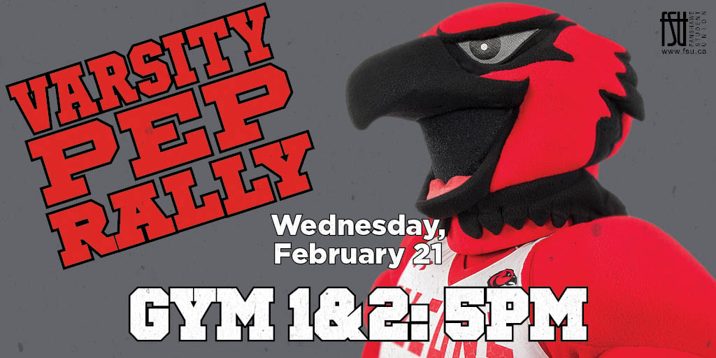 Varsity Pep Rally Wednesday, February 21st, 2018					