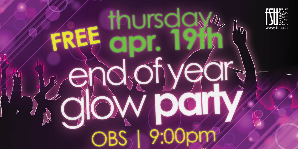 Glow Run and End of Year Party Thursday, April 19th, 2018					