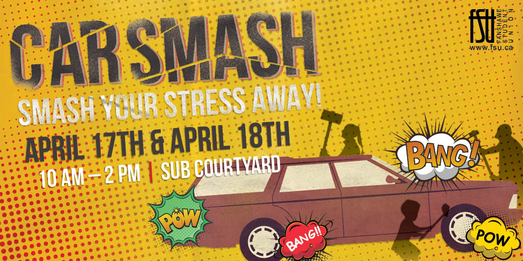 Smash Your Stress Away Day 1 of 2 Tuesday, April 17th, 2018					