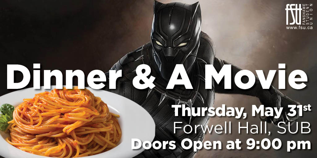 Free Dinner and a Movie Thursday, May 31st, 2018					