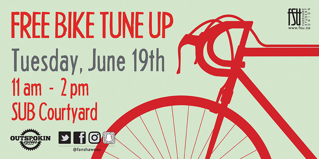 Free Bike Tune Up Tuesday, June 19th, 2018					