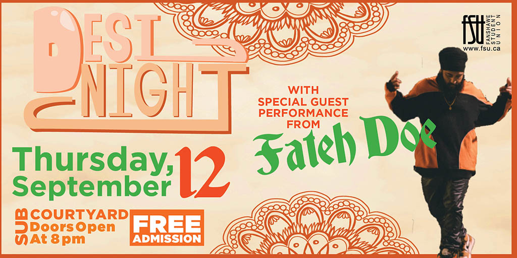 Desi Night with special guest performance from Fateh Doe