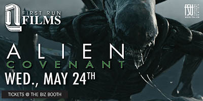 First Run Film: Alien: Convenant Wednesday, May 24th, 2017 to Thursday, May 25th, 2017 Imagine Cinemas (CITI Plaza) $4 for students/$6 for guests Open to everyone (ticket purchaser must be a Fanshawe student)