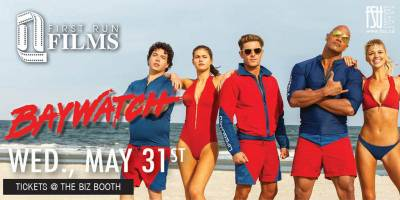 First Run Film: Baywatch Wednesday, May 31st, 2017 to Wednesday, May 31st, 2017 Imagine Cinemas (CITI Plaza) $4 for students/$6 for guests Open to everyone (ticket purchaser must be a Fanshawe student)