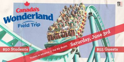 SOLD OUT: Canada's Wonderland Field Trip Saturday, June 3rd, 2017>