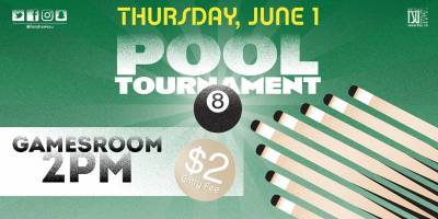 8 Ball Pool Tournament Thursday, June 1st, 2017>