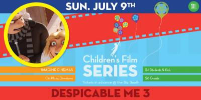 Children's Film Series: Despicable Men 3 Sunday, July 9th, 2017 to Sunday, July 9th, 2017 Imagine Cinemas (CITI Plaza) $4 for Fanshawe students/$4 for children/$6 for guests Open to everyone (ticket purchaser must be a Fanshawe student)