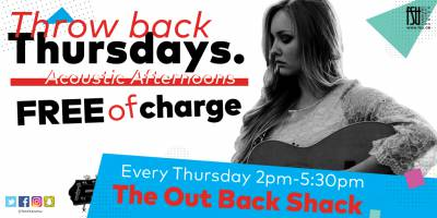 Acoustic Afternoons Thursday, January 25th, 2018 to Thursday, January 25th, 2018 The Out Back Shack Free All-ages with valid Fanshawe student card/19+ without