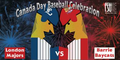 Canada Day Baseball Game and Fireworks