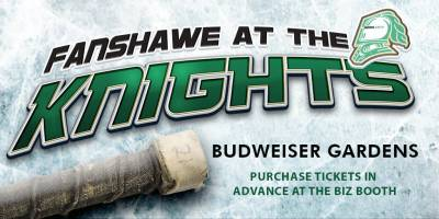 SOLD OUT: Fanshawe at the Knights: London vs. WindsorFriday, September 21st, 2018