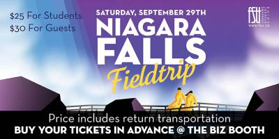 SOLD OUT: Niagara Falls TripSaturday, September 29th, 2018