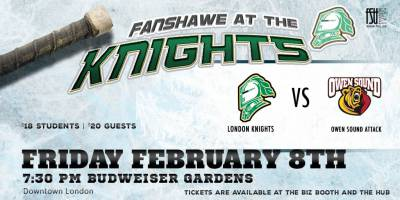 Fanshawe at the Knights: London vs. Owen SoundFriday, February 8th, 2019