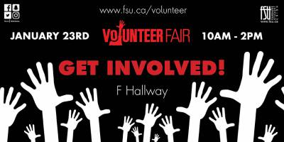 Volunteer FairWednesday, January 23rd, 2019