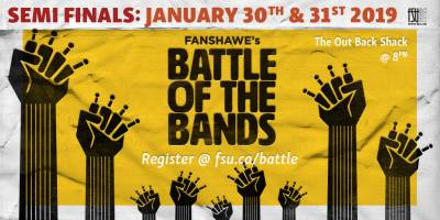 Battle of the Bands Night 1Wednesday, January 30th, 2019