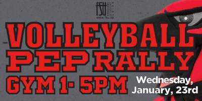 Volleyball Pep RallyWednesday, January 23rd, 2019