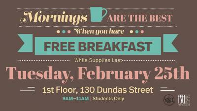 Free Breakfast (Downtown campus)