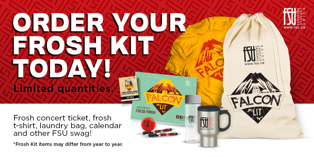 Order your frosh kit today. Limited quantities.