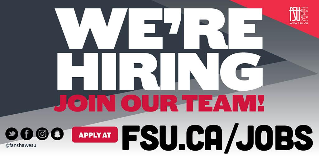 FSU Employment | Fanshawe Student Union