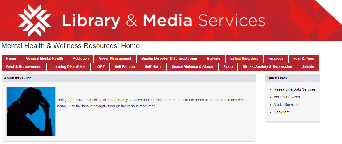 Library and Media Services's Mental Health & Wellness Resources