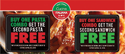 Second pasta combo free