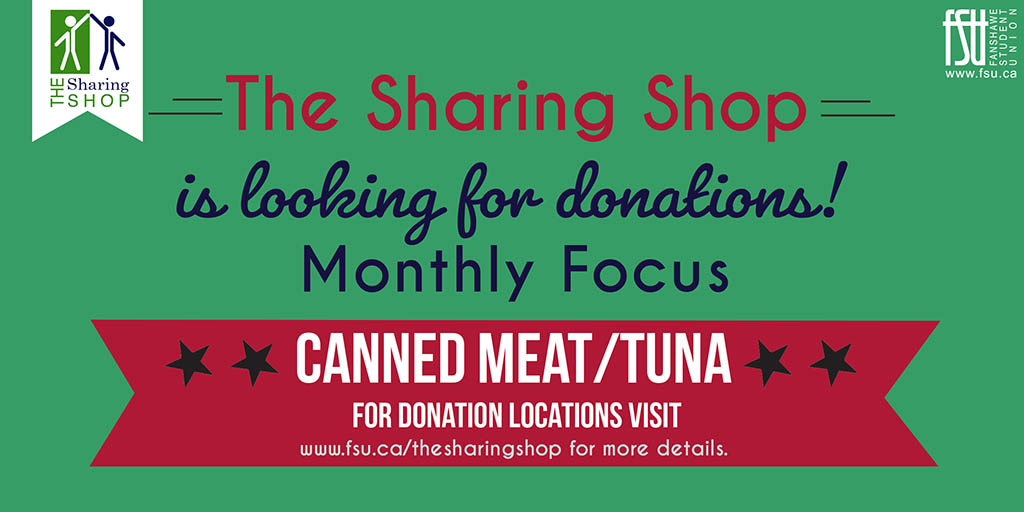 The Sharing Shop is looking for donations of Canned Meat/Tuna