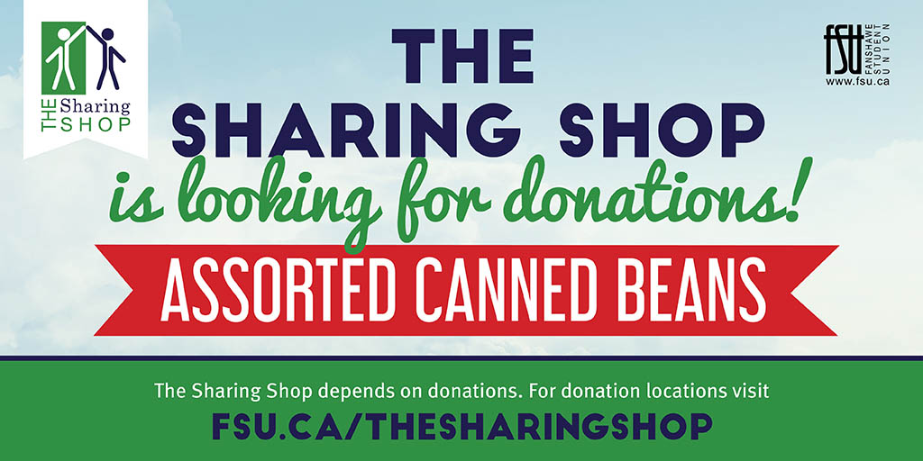 The Sharing Shop is looking for donations of assorted canned beans