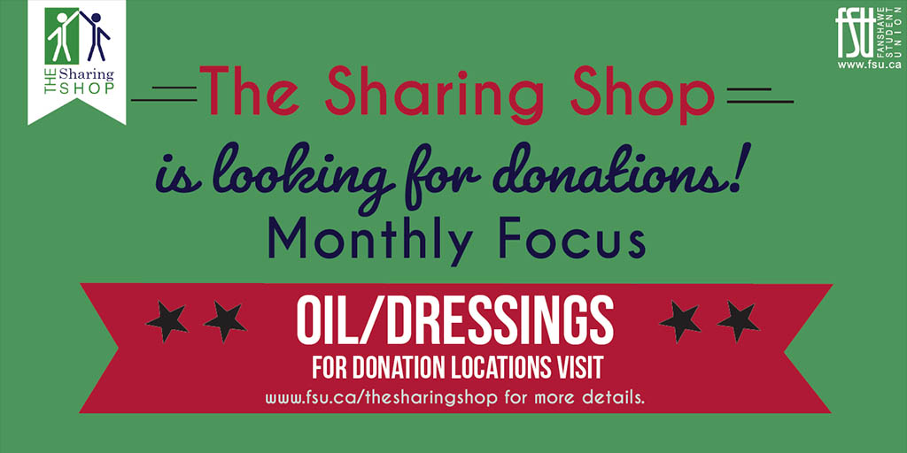 The Sharing Shop monthly focus: oil