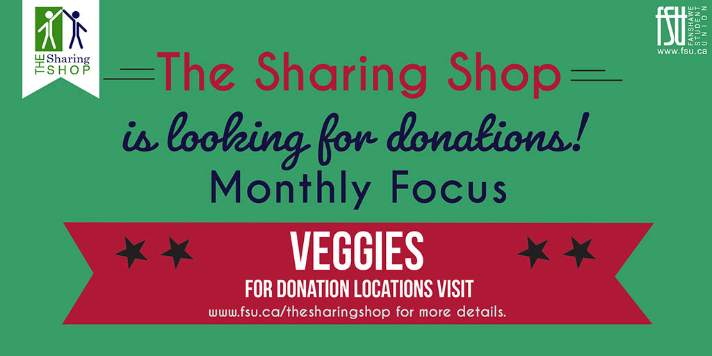 The Sharing Shop is looking for donations of vegetables