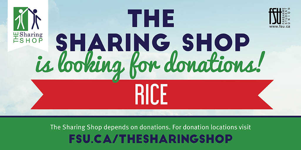 The Sharing Shop is looking for donations of rice