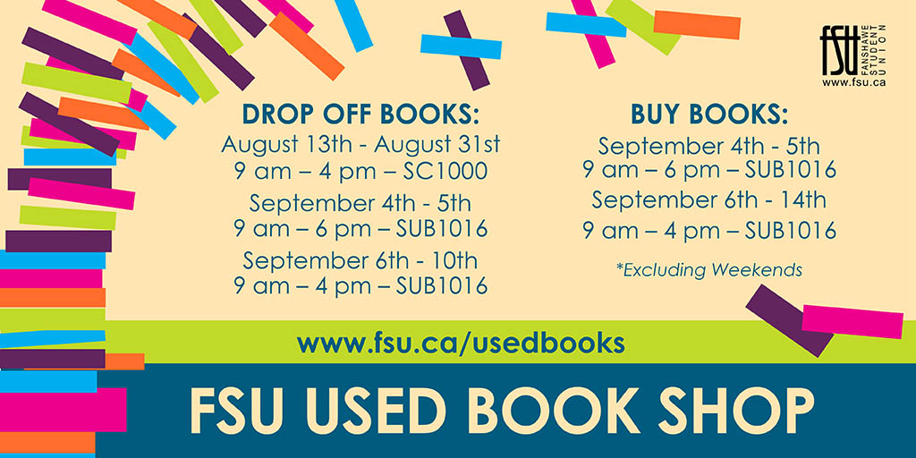 FSU Used Book Shop hours of operation